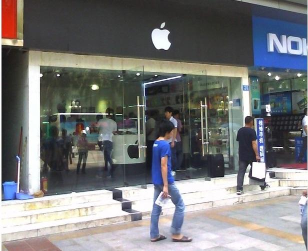 Fake Apple Store in Shenzhen China