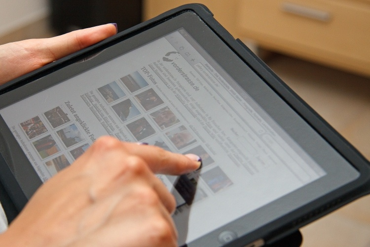Responsive design is the idea that websites can adapt to devices, such as iPads, for better viewing.