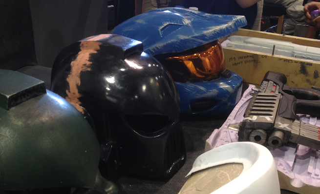 Master Chief and Warhammer 40K Helmets