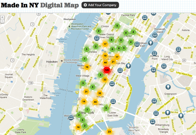 Made in New York Digital Map, announced by NYC Mayor Bloomberg