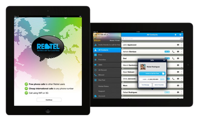 Rebtel's VoIP app hits the iPad, now over 17M users strong