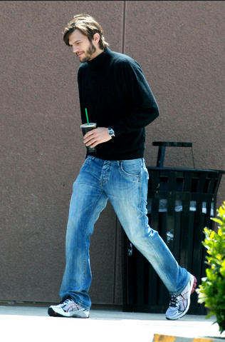 Ashton Kutcher plays Steve Jobs