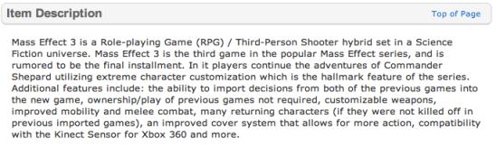Mass Effect 3 (Walmart.com)