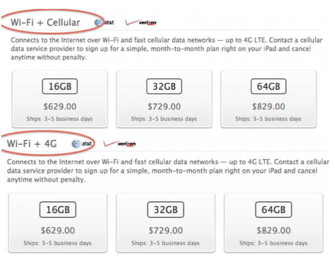 iPad WiFi plus cellular