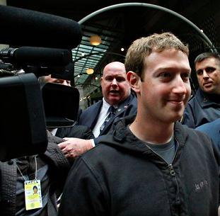 Zuckerberg in hoodie