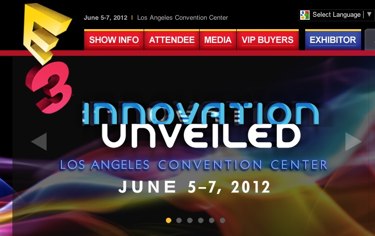 E3 Web Screen Shot