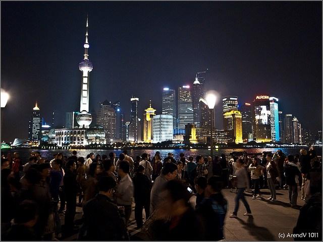 shanghai china at night