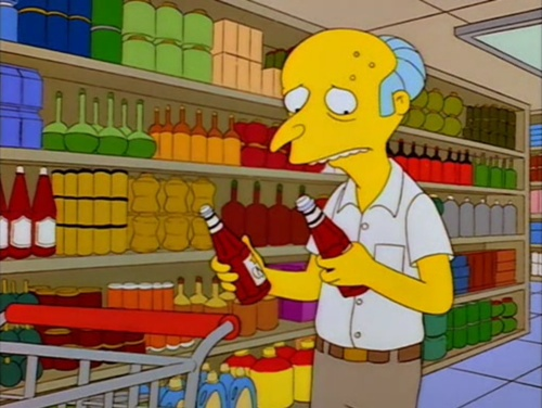 Consmr could help Mr. Burns with his catsup problem