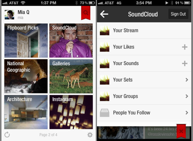 Flipboard adds SoundCloud