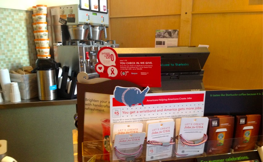starbucks 4sq red