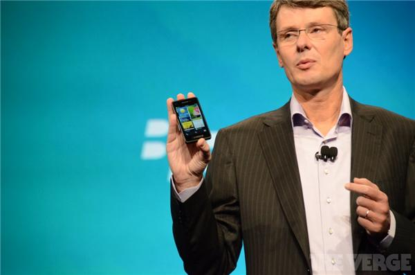 thorsten heins unveils blackberry 10