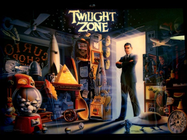 The Twilight Zone pinball table art