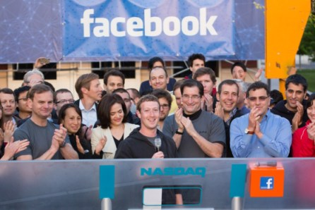 zuckerberg facebook nasdaq bell official