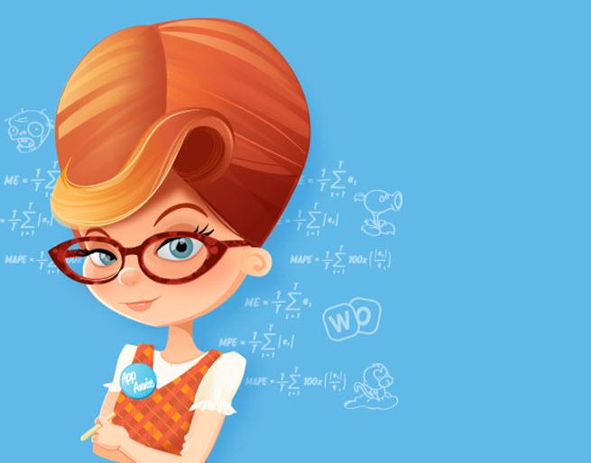 The cartoon mascot for App Annie.