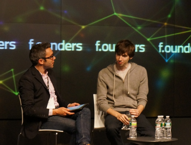 Nick Bilton, David Karp at the F.ounders conference