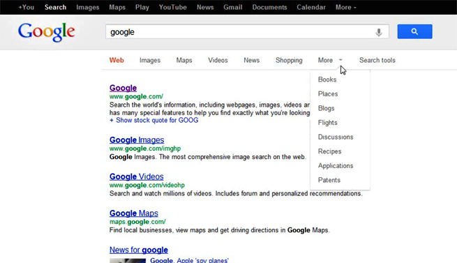 google-new-search