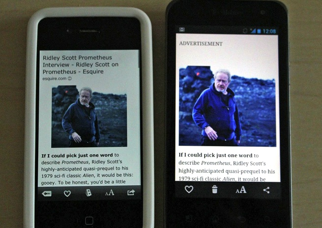 Hands on Instapaper Android