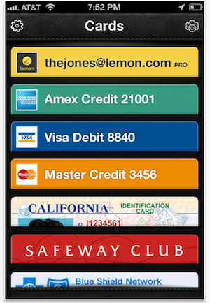 Lemon digital wallet