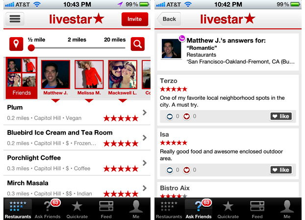 Livestar takes on Yelp, Foursquare, & Metacritic to be your
