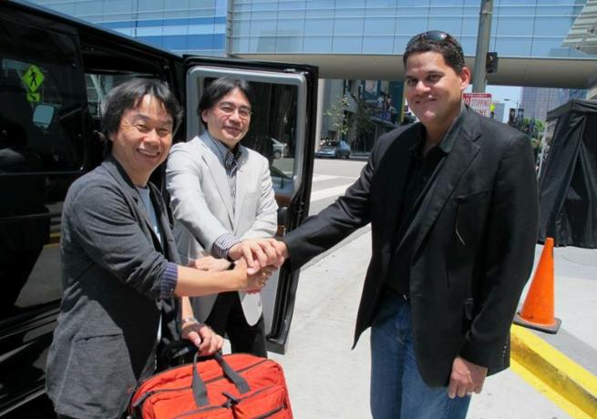 Nintendo E3 2012 Shigeru Miyamoto Satoru Iwata Reggie Fils-Aime