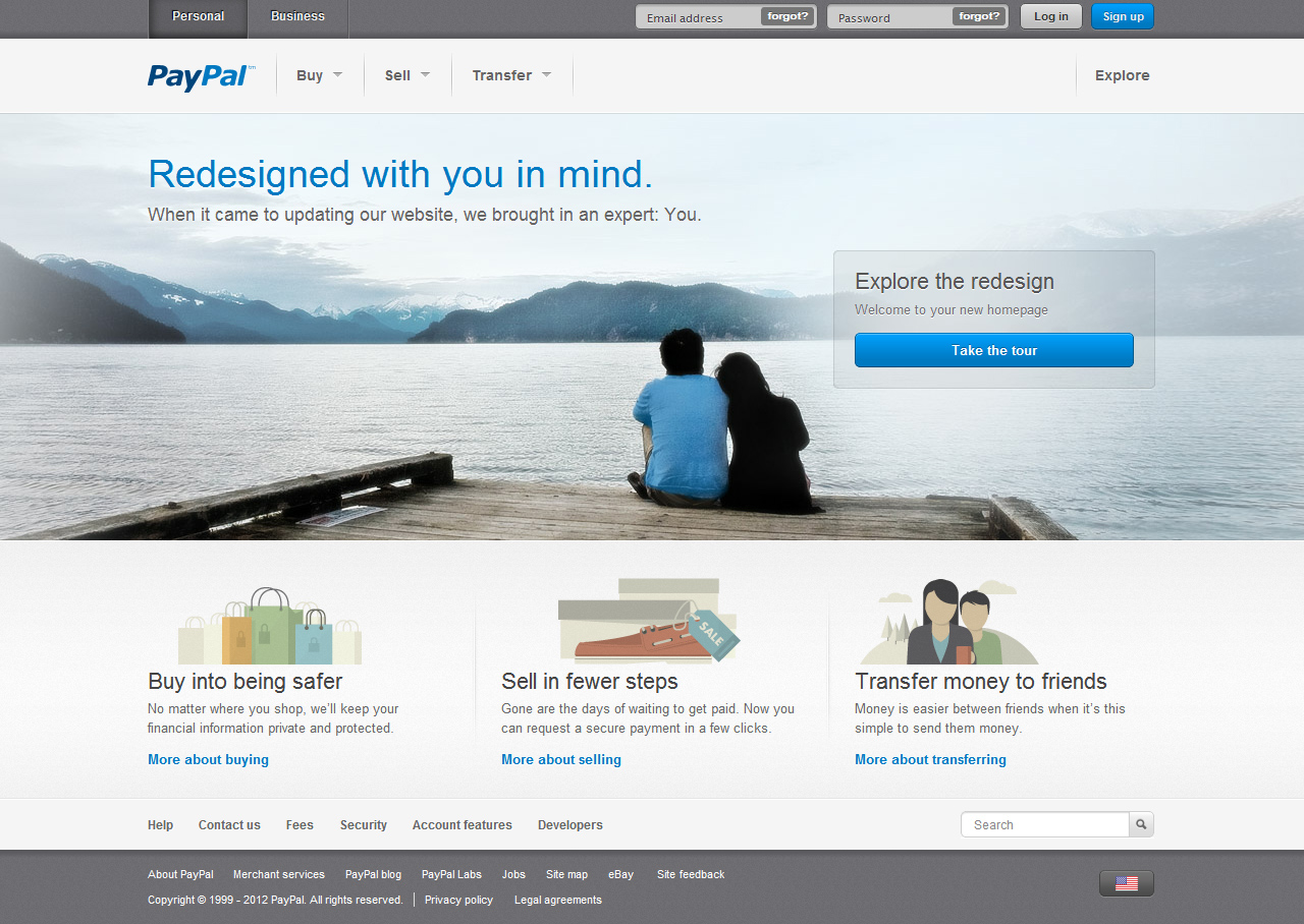 paypal 39 s website is no longer an insult to your eyes confirmed venturebeat news by tom. Black Bedroom Furniture Sets. Home Design Ideas