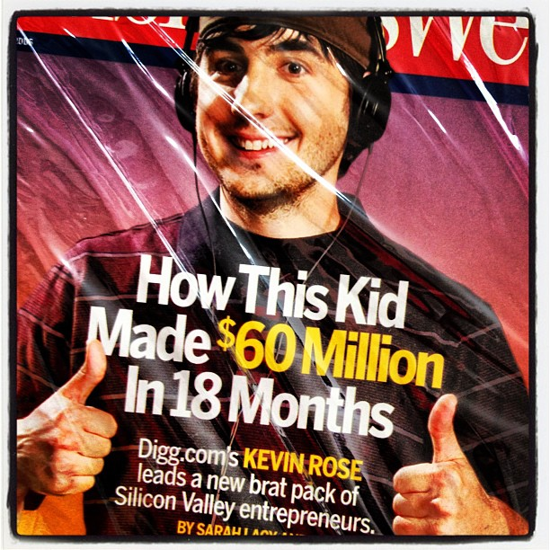 Photo of Alexis' copy of a BusinessWeek issue