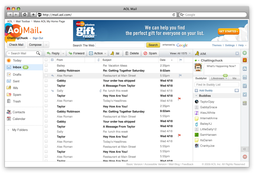 To keep its 24M users from fleeing, AOL redesigns Mail with much sharper look
