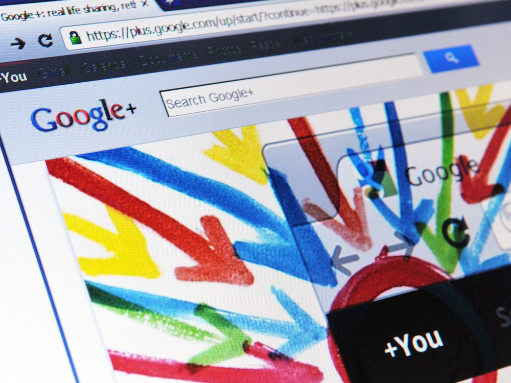 Google +1 buttons make content recommendations