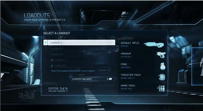 Loadouts in Halo 4