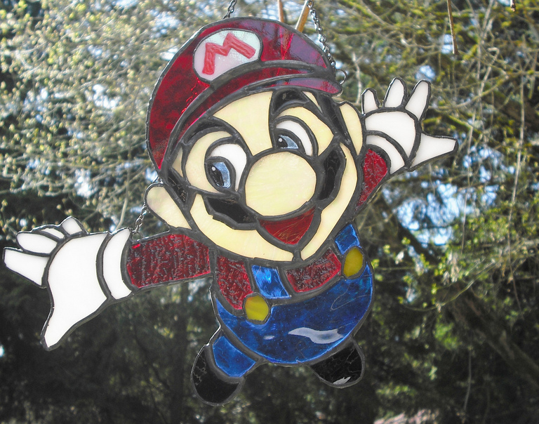 Mario Stained Glass