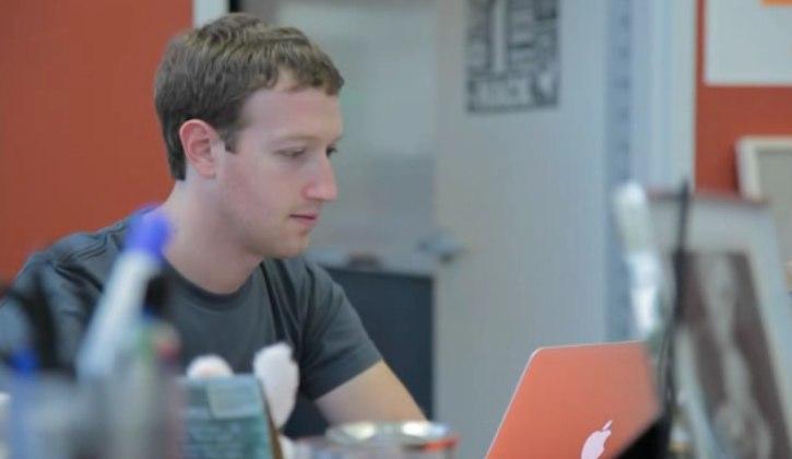 mark zuckerberg working