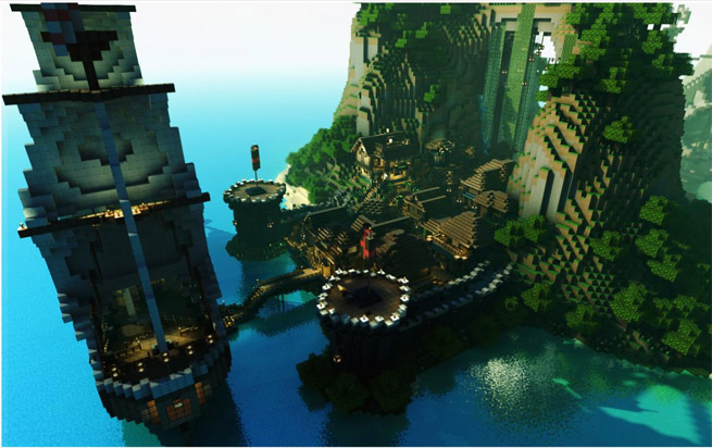 Pirate Island in Minecraft