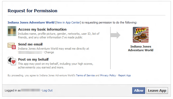 Some Facebook games no longer ask permission to access your profile