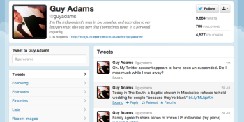NBC hater Guy Adam's Twitter account re-instated