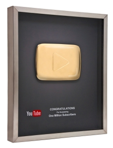 YouTube Gold Button award