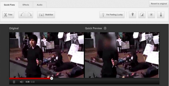 YouTube Blur tool