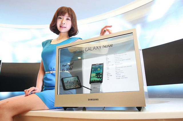 Samsung shows off its transparent displays