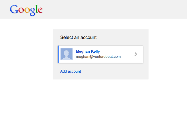 Google Account chooser