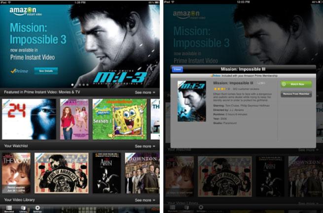 Amazon Instant Video iPad App