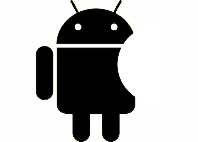 Android logo looks like Apple logo