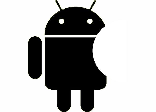 Android logo looks like Apple logo
