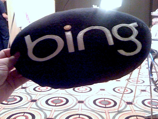 A Bing pillow