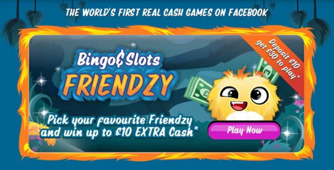 Facebook online gambling app Bingo Friendzy