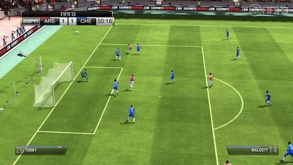 FIFA 13 telecam shot on the Wii U