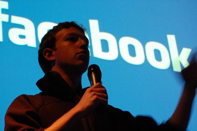 Mark Zuckerberg, looking ominous and gloomy