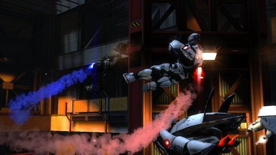 Hybrid mid-air battle