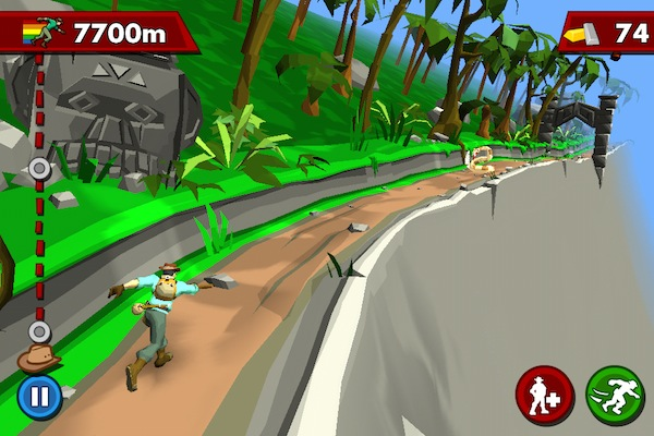 Pitfall! screen on the iPhone