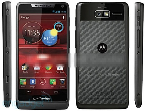 Leaked screenshot of the Razr M 4G LTe