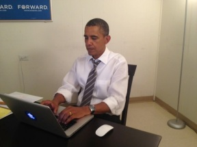 Obama Reddit verification photo