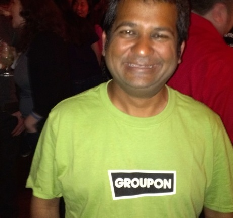 Rocky in his Groupon T-shirt